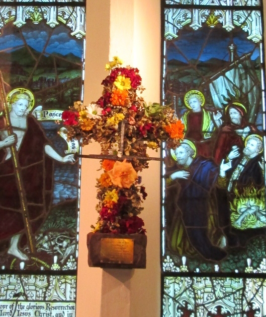 The Easter Cross commemorates Christ's death at Good Shepherd- Protea Church, Cape Town.