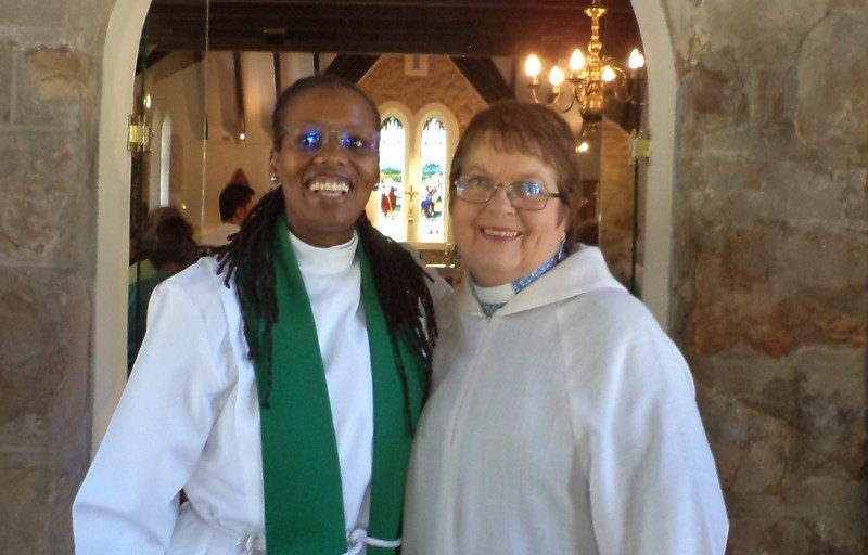 On the last Sunday in the first month of 2018, we welcomed Rev Canon Dr Vicentia Kgabe as celebrant and preacher, seen here after the service with Rev Jo Tyers.
